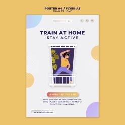 健身訓練APP宣傳海報設計