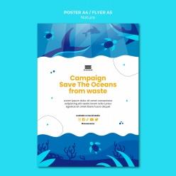 拯救海洋PSD環保海報