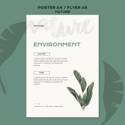 自然環境PSD分層海報設計