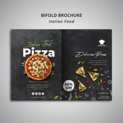 意大利美食餐廳宣傳冊