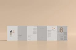 折頁畫冊PSD樣機模板