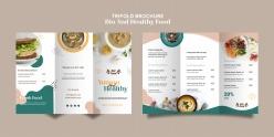 健康食品宣傳冊模板