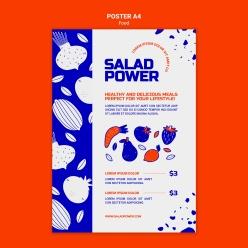 手繪蔬菜創意海報設計