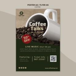 美味咖啡宣傳單模板