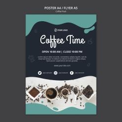 咖啡廳廣告海報設計
