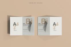 折頁畫冊PSD模板設計