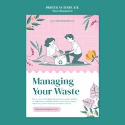 垃圾分類環保海報模板