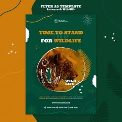 休閑野生動物宣傳海報