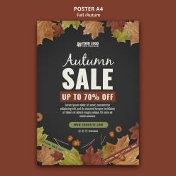 秋季促銷PSD分層海報