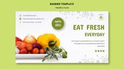 新鮮果蔬促銷海報模板