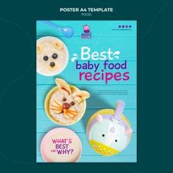 餐廳兒童餐廣告海報設計