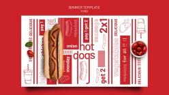 美味熱狗PSD美食海報