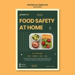 健康飲食海報設計模板