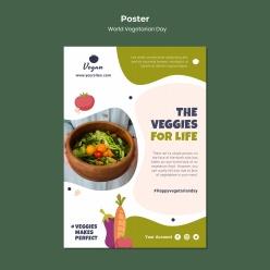 健康果蔬沙拉PSD海報