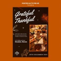 感恩節快樂海報模板設計