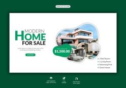 房地產網頁橫幅模板設計