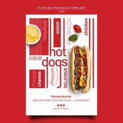 熱狗速食廣告海報設計