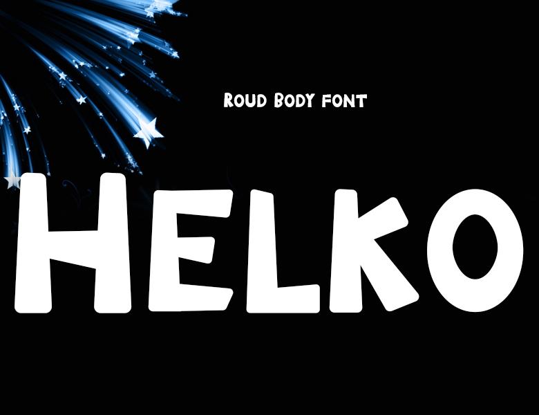 helko字體下載