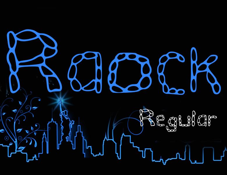raock-regular字體下載