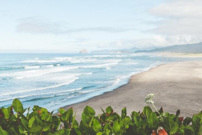 海灘風景唯美意境圖片